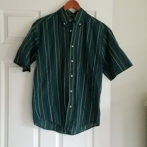 George S Mens Button Up Short Sleeve Excellent